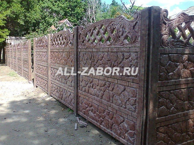 Заборы из бетона купить в новосибирске протравка цементной штукатурки нейтрализующий раствор